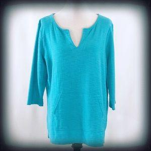 Liz Sport 3/4 Sleeve Tunic Top XL EUC